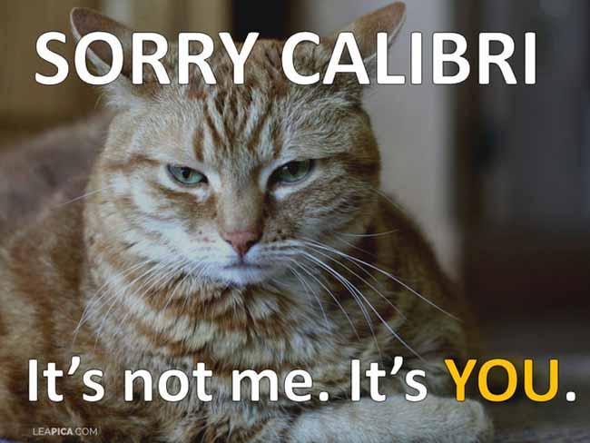 Lea PICA - Google Fonts in PowerPoint - Sorry Calibri Cat