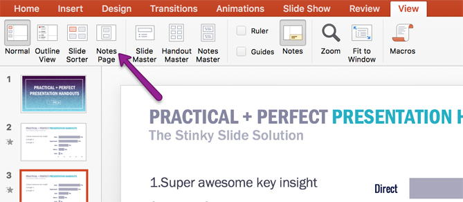 Lea Pica - Perfect Presentation Handouts - Customize Notes Page