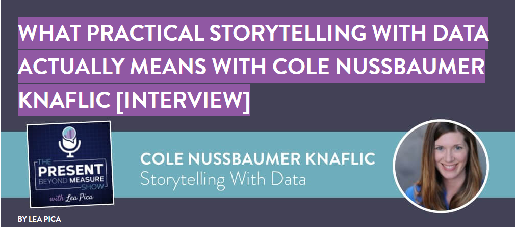 practical storytelling with data with cole nussbaumer knaflic