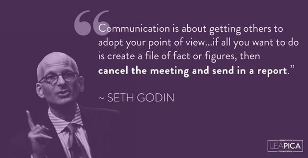 Lea Pica - Presentation Handouts - Seth Godin Quote